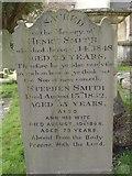 ST8992 : Smith family gravestone St Mary's Tetbury. by Paul Best