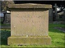 ST8992 : Tugwell gravestone St Mary's Tetbury. by Paul Best
