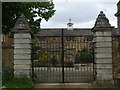SP4126 : Iron gates to restored house in Sandford St. Mary by nick macneill