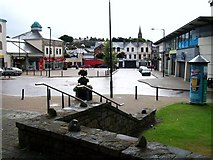 J4844 : Market Street, Downpatrick from the steps of the St Patrick Centre by Eric Jones