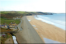 SM8422 : Newgale beach from the cliffs by Andy F