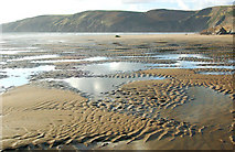 SM8422 : Sand patterns on the beach at Pwll March, Newgale by Andy F