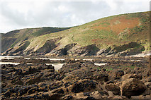 SM8422 : Mussel beds near Cym-bach, north of Newgale by Andy F