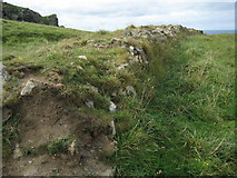 SW9381 : Earthwork at Rumps Point by Philip Halling
