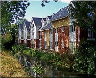 TA2609 : River Freshney near Haven Bridge, Grimsby by David Wright
