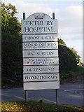 ST8992 : Tetbury Hospital sign by Paul Best