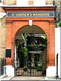 TQ2881 : The entrance to St. Andrew's Mansions, Chiltern Street / Dorset Street, W1 by Mike Quinn