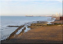 TQ3303 : Looking west from Brighton Marina by Peter Whitcomb