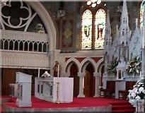 J4844 : The High Altar at St Patrick's RC Church, Downpatrick by Eric Jones