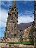 J4844 : The steeple of St Patrick's RC Church, Downpatrick by Eric Jones