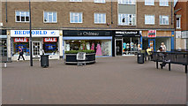 SP8733 : Shops in Elizabeth Square, Bletchley by Cameraman