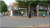 SP8733 : Herbies pizza, Queensway, Bletchley by Cameraman