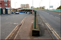 J3474 : The Station Street/Bridge End flyover, Belfast (5) by Albert Bridge