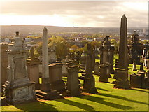 NS6065 : Glasgow: Necropolis and view of the suburbs by Chris Downer