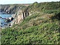 SM7807 : Cliffs above Marloes Sands by David Smith