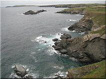 SW8471 : View across Porth Mear by Philip Halling