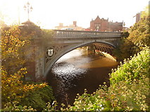 NS5666 : Glasgow: the River Kelvin under Partick Bridge by Chris Downer