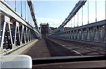 SH5571 : Telford's suspension bridge by Bob Abell