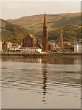 NS2059 : Largs: Clark Memorial Church reflected in the sea by Chris Downer