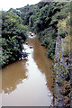 NZ7119 : Turbid stream flowing into Skinningrove from Loftus by John Rostron