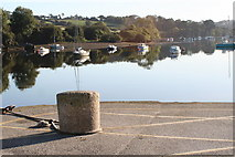 SW7834 : Granite bollard on Penryn Quay by Rod Allday