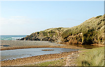 SW5842 : The Red River approaching its mouth at Godrevy by Andy F
