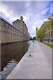 SE1438 : Titus Salt's Mill on the Leeds -Liverpool Canal by M T WHITELOCK