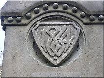 SD8122 : Gatepost detail, lane to Green Bank by Robert Wade