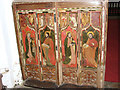 TG0043 : All Saints church - rood screen panels by Evelyn Simak