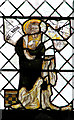 TG1314 : St Peter's church - medieval glass by Evelyn Simak