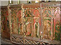 TG0743 : St Nicholas' church - C16 rood screen panels by Evelyn Simak