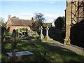SJ6353 : St Mary's churchyard, Acton by John S Turner