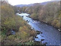 NS8305 : River Nith at Glenairlie Bridge by Oliver Dixon