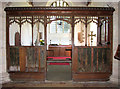 TF7643 : St Mary's church - rood screen by Evelyn Simak