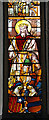 TF9441 : St Mary's church - C16 German glass by Evelyn Simak