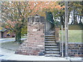 SJ4186 : Steps at end of public footpath, Quarry Street, Woolton. by Colin Pyle
