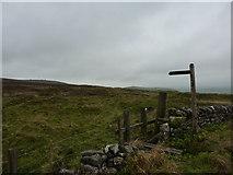 SK1973 : Start of a footpath across Longstone Moor by Peter Barr