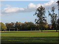 TQ4474 : Avery Hill Park (2) : football pitches by Stephen Craven