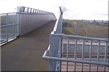 TQ6174 : Footbridge over the CTRL, near Northfleet by David Anstiss