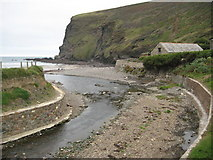 SX1496 : Stream flowing into Crackington Haven by Philip Halling
