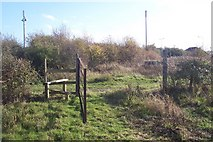 TR0862 : Stile and Gate near Highstreet by David Anstiss