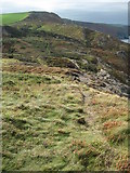 SX1395 : South West Coast Path approaching High Cliff by Philip Halling