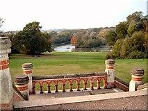 SU7209 : Terrace in Staunton Country Park by Margaret Sutton