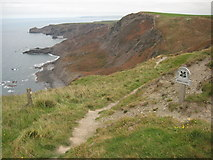 SX1293 : Rusey Cliff by Philip Halling
