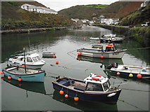 SX0991 : Boats moored in Boscastle Harbour by Philip Halling