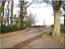 SK2640 : Lane junction near Burrows Farm by Richard Law