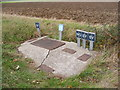 TM2664 : Water Inspection Points on the B1119 Saxtead Road by Adrian Cable