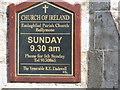 G6615 : Ballymote Parish Church sign by Willie Duffin