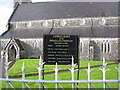 G6615 : Information sign, Ballymote Catholic Church by Willie Duffin