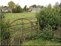 SP2504 : Rusty field gate in Kencot by andrew auger